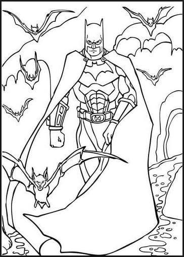 Mẫu tranh tô màu cho bé hình Batman