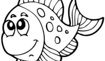 Mẫu tranh tô màu cho bé từ 2 đến 5 tuổi hình con cá
