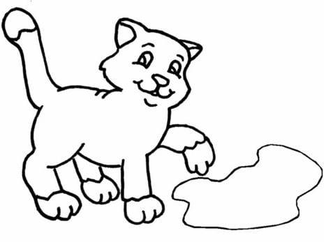 Mẫu tranh tô màu hình chú Cún dành cho bé
