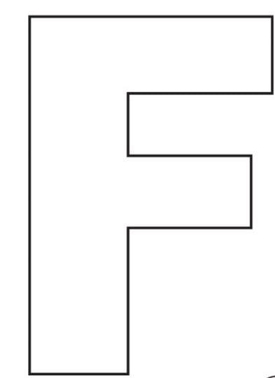 Mẫu tranh tô màu hình chữ F đơn giản cho bé 2 tuổi