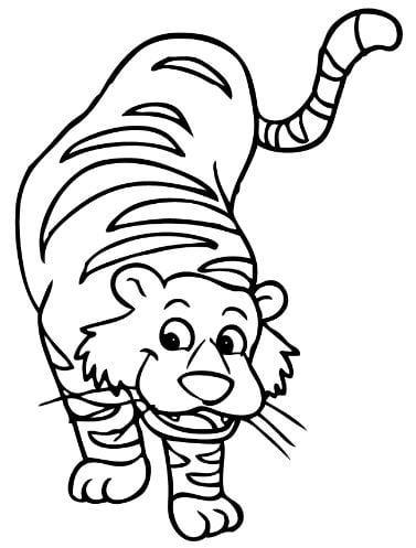 Mẫu tranh dành cho bé hình con hổ