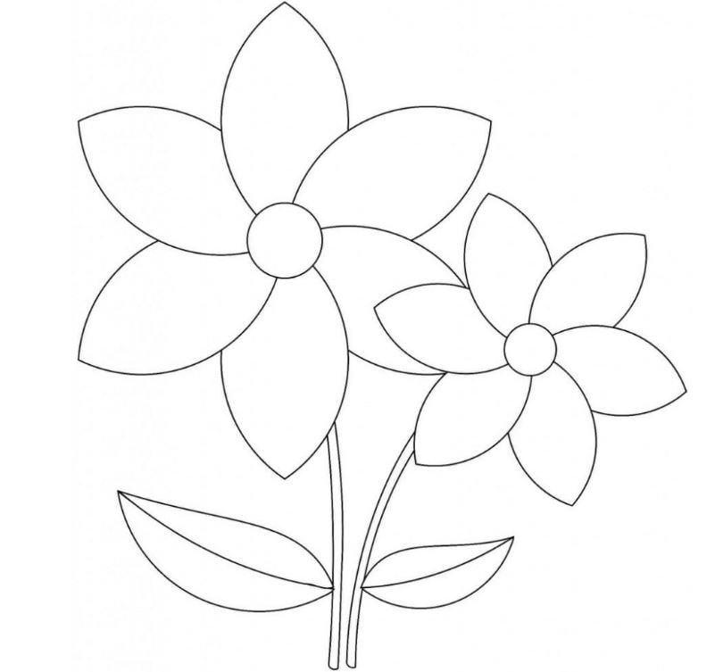 Mẫu tranh tô màu hình hoa huệ dành cho bé