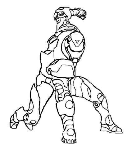Mẫu tranh tô màu cho bé hình siêu anh hùng Iron Man