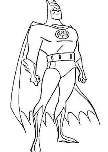 Mẫu tranh tô màu cho bé hình siêu anh hùng người dơi