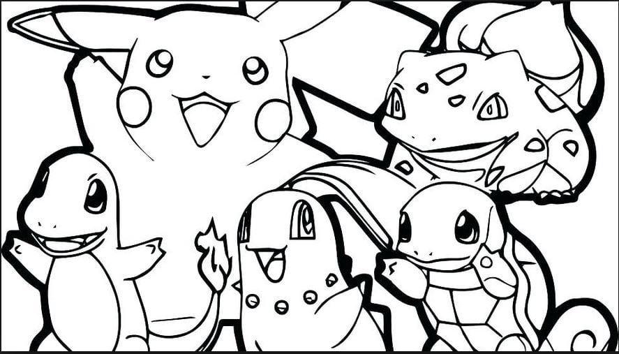 Mẫu tranh tô màu cho bé hình Pikachu