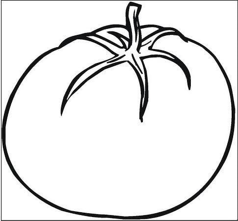Tranh tô màu hình quả cà chua cho bé 2 tuổi