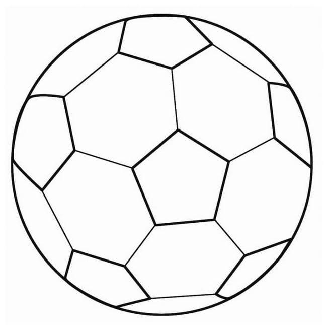 Mẫu tranh tô màu hình quả bóng