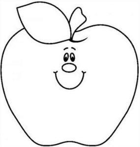 Tranh tô màu hình quả táo cực kì ngộ nghĩnh