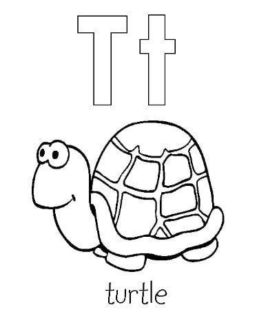 Mẫu tranh tô màu cho bé hình chữ T