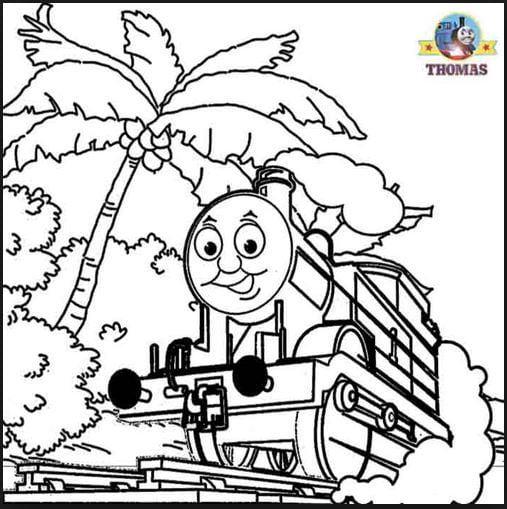 Mẫu tranh tô màu hình tàu lửa ngộ nghĩnh