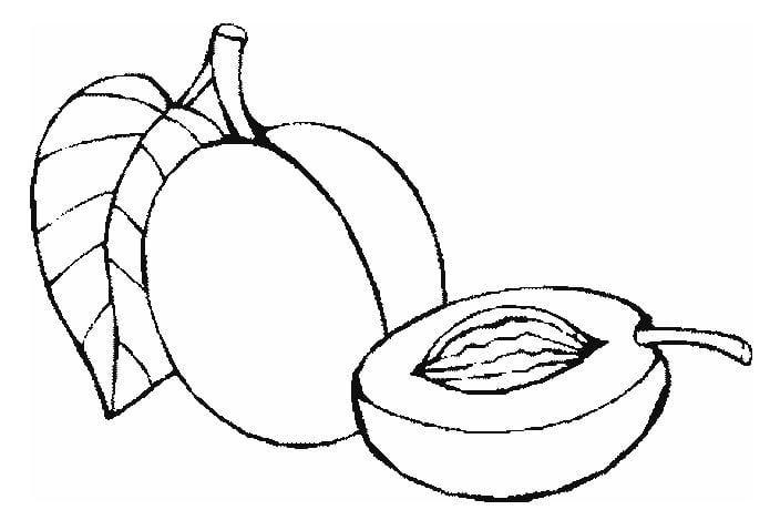 Mẫu tranh tô màu hình trái cây dành cho bé