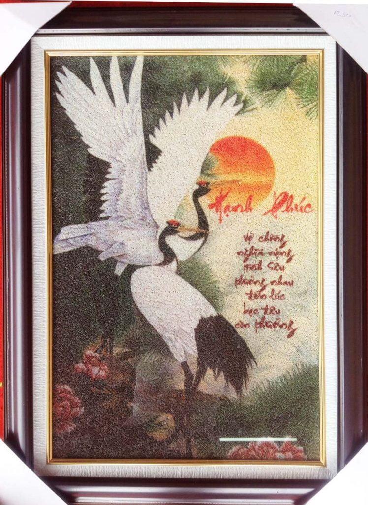 Tranh gạo đẹp, nghệ thuật không thua gì các loại hình tranh nghệ thuật khác