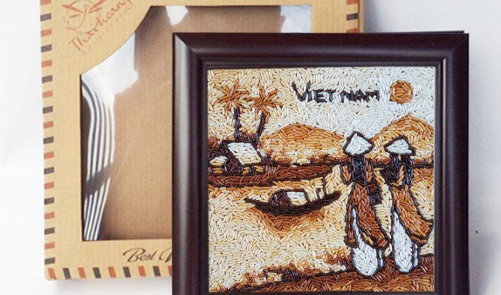 Tranh gạo rang nghệ thuật giá tốt