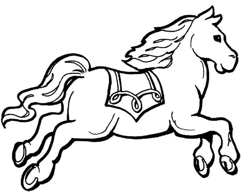 Tranh tô màu động vật – hình con ngựa