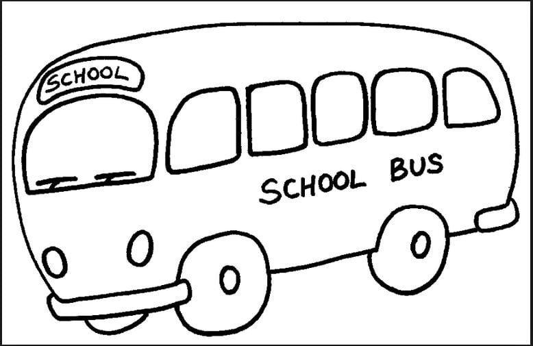 Mẫu tranh tô màu hình xe bus