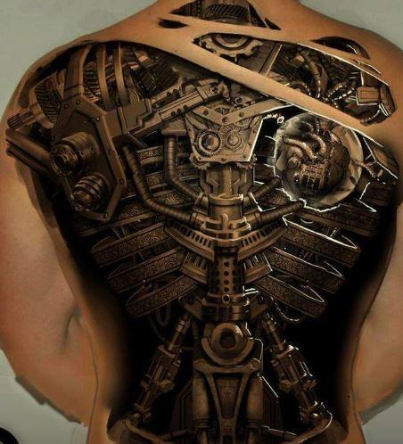 Mẫu hình xăm ở lưng 3D cực đẹp dành cho nam