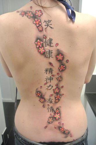 Mẫu hình xăm ở lưng đẹp dành cho nữ