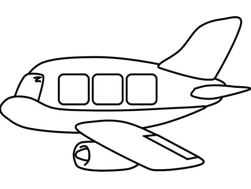Mẫu tranh tô màu hình chiếc máy bay dành cho bé