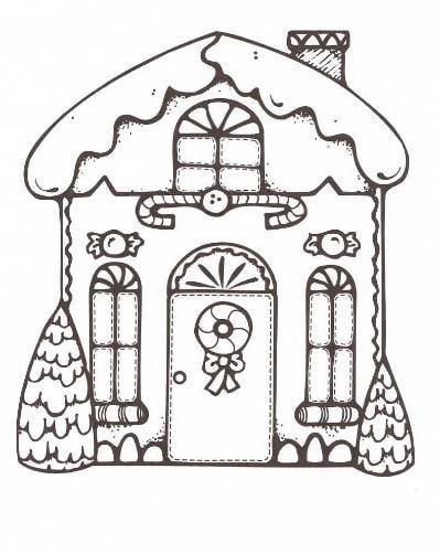 Mẫu tranh tô màu hình ngôi nhà cổ tích dành cho bé tập tô