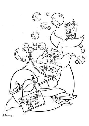 Mẫu tranh tô màu cho bé gái hình nàng tiên cá và chú cá voi
