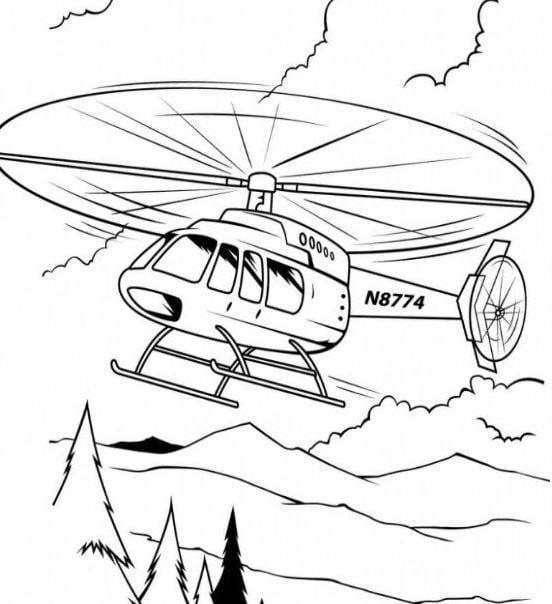 Mẫu tranh tô màu cho bé hình chiếc máy bay
