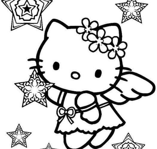 Mẫu tranh tô màu cho bé hình con mèo dễ thương