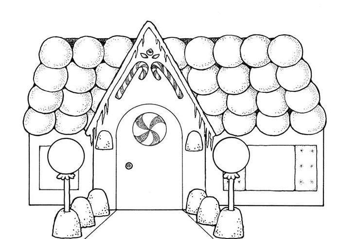 Mẫu tranh tô màu hình ngôi nhà dành cho bé tập tô