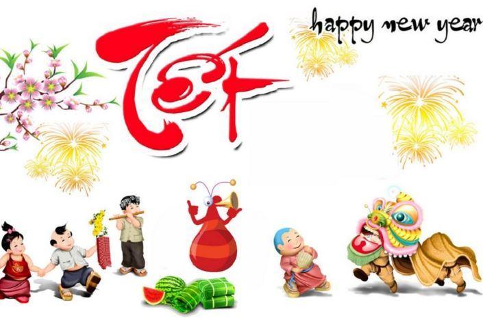 Bức tranh ngày tết với những nét truyền thống của tết cổ truyền Việt Nam