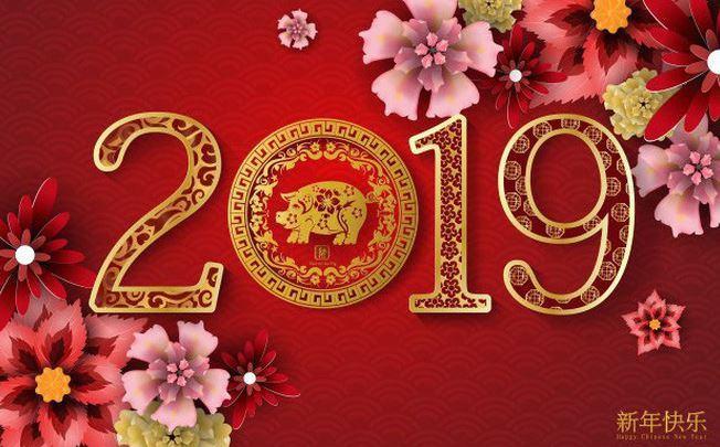 Hình ảnh chúc tết năm Ất Hợi năm 2019 với màu sắc đầy may mắn