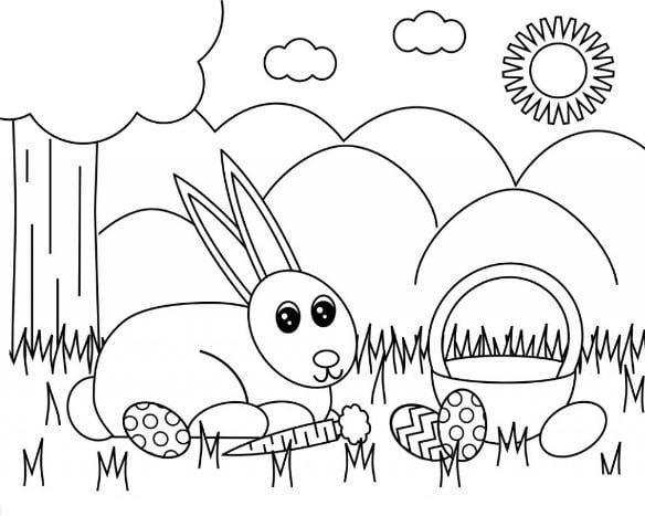 Tranh tô màu phong cảnh quê hương đơn giản dành cho bé tập tô