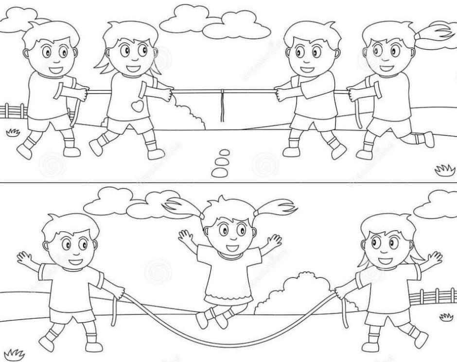 Mẫu tranh tô màu cho bé các trò chơi ngày tết không thể thiếu