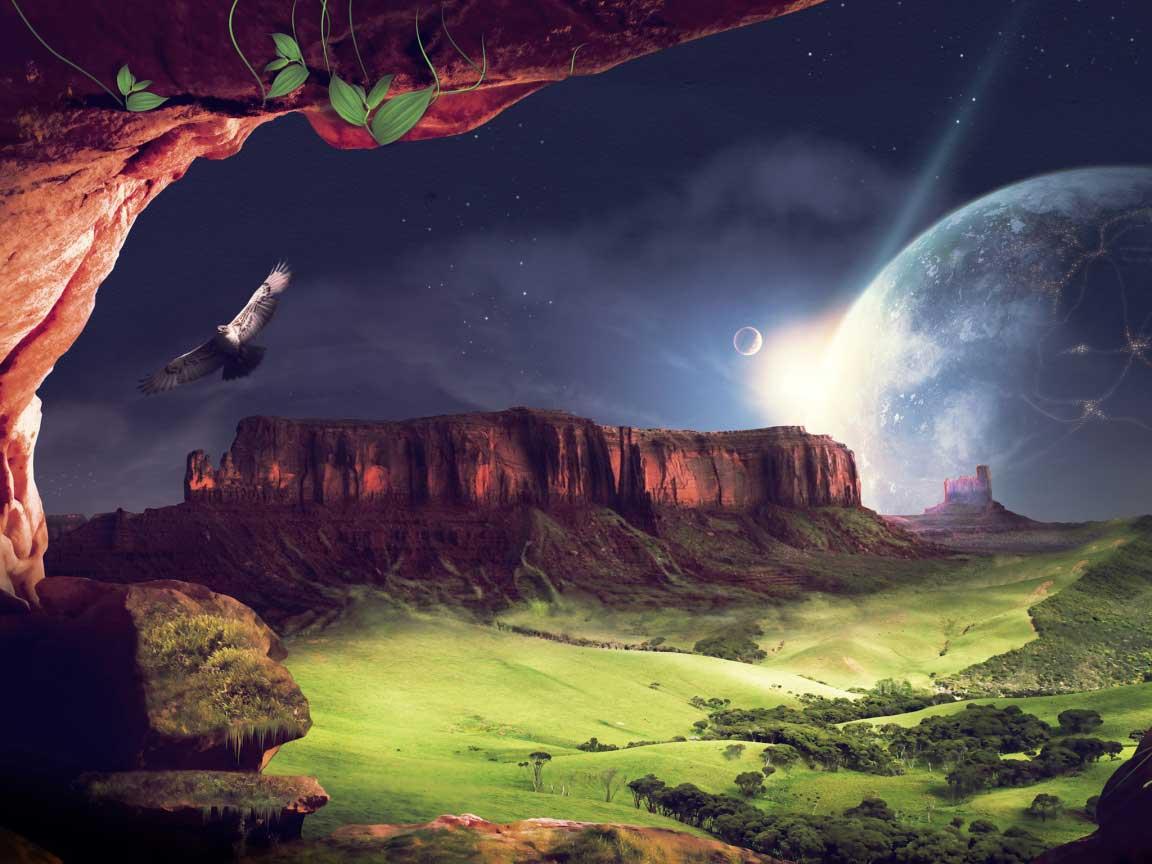 美好的3D自然风景的图片