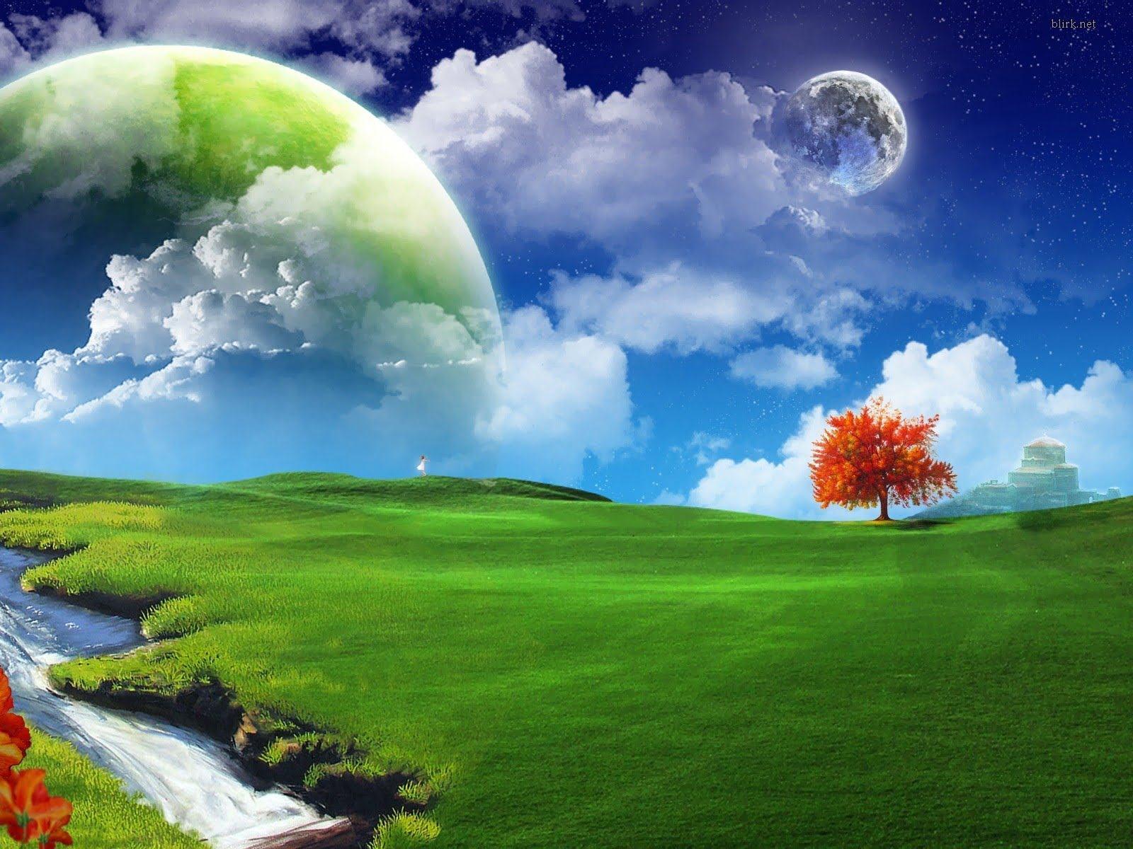 Phong cảnh thiên nhiên tươi sáng mang lại một cảm giác tuyệt vời
