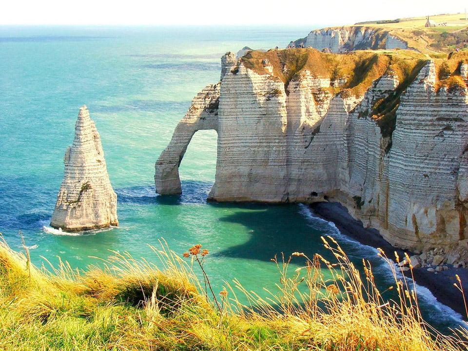 茫茫大海和石头树冠之间的自然形象营造出完美的画面