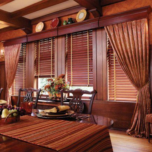 Hình ảnh màn sáo gỗ đơn giản
