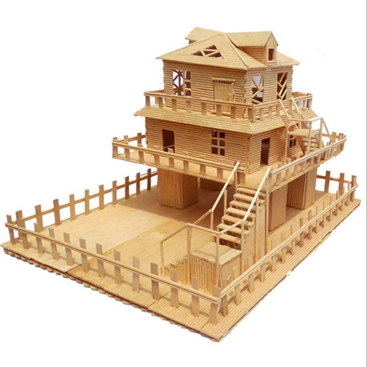 Mô hình ngôi nhà tăm tre dùng làm quà tặng