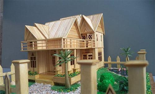 Mô hình nhà tăm tuyệt đẹp từ những đôi tay khéo léo