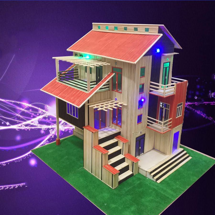Tổng hợp mô hình nhà bằng tâm tre cực đẹp