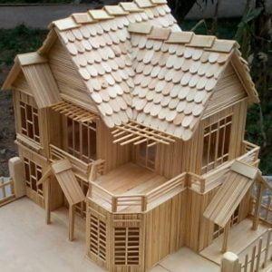 Tổng hợp các mô hình nhà biệt thự bằng tâm tre tuyệt đẹp