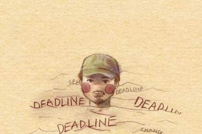 """Trong suốt hơn 3 phút rưỡi của MV, hình ảnh chàng rapper quê Quảng Ninh chỉ nổi đầu lên mặt nước khiến người xem có những liên tưởng thú vị. Trong đó, nỗi khổ deadline """"ngập cổ"""" được nhiều dân mạng nghĩ tới. Ảnh: Thùy Chang."""