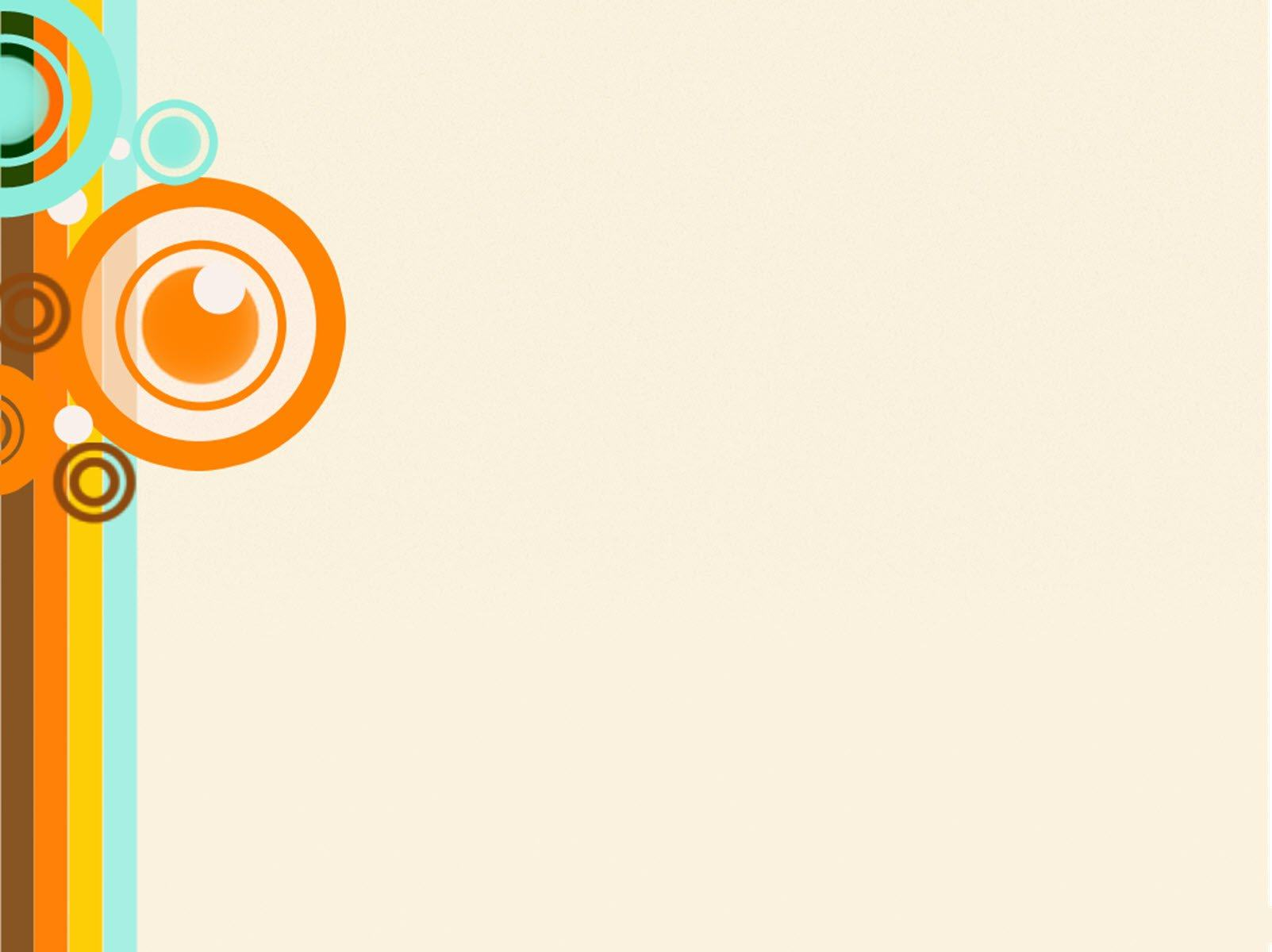 Backgroud Powerpoint thuyết trình đẹp - vòng tròn cam