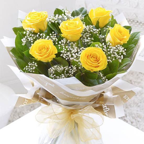 Hình ảnh Hoa hồng vàng - Bó bông hồng vàng đẹp nhất 2019