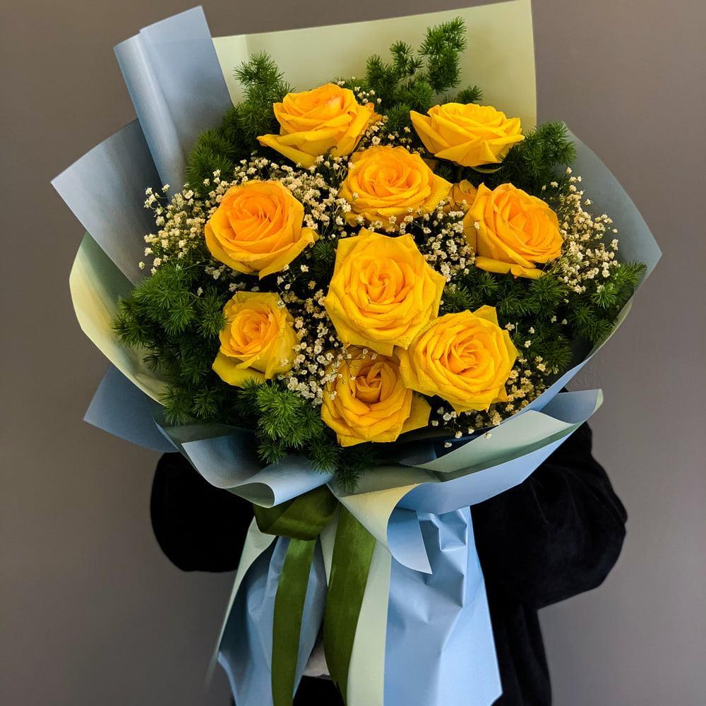 Hình ảnh Hoa hồng vàng - Bó hồng vàng đẹp