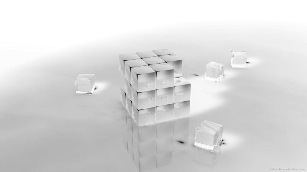 Hình nền slide thuyết trình đẹp - hiệu ứng khối lập phương