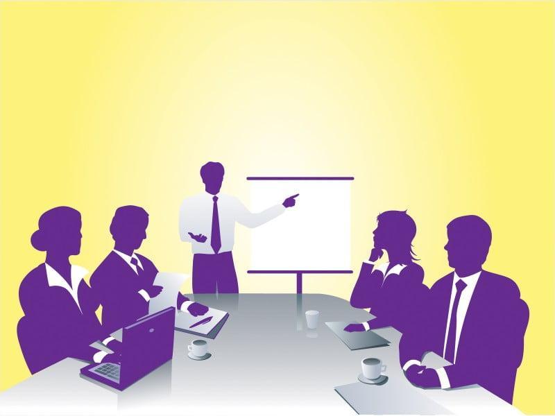 Hình nền slide thuyết trình đẹp - buổi họp