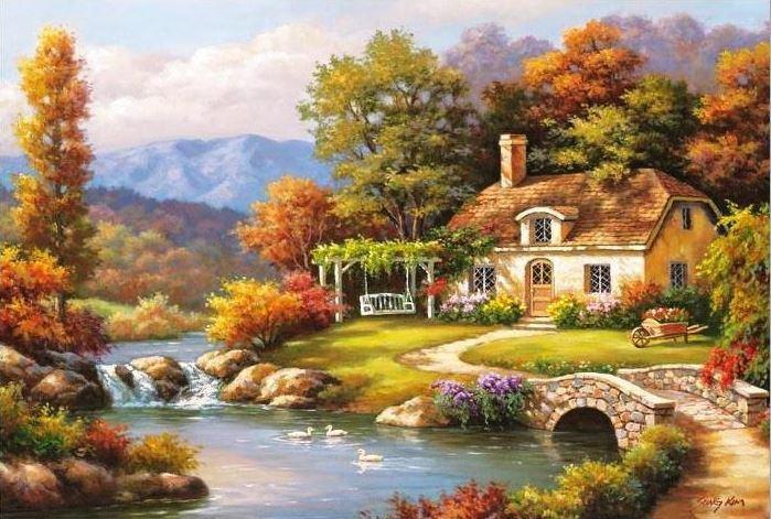 Tranh phong cảnh 3D - Tranh 3D thiên nhiên cảnh đẹp