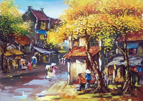 Tranh phong cảnh phố cổ Việt Nam