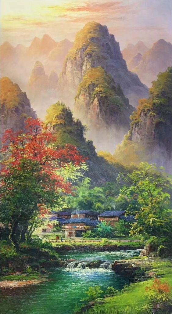 Tranh phong cảnh sơn dầu treo tường thiên nhiên đẹp nhất