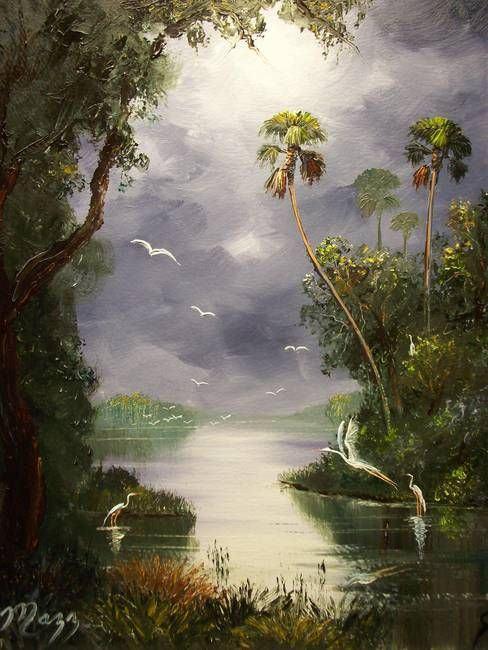 Tranh sơn dầu treo tường thiên nhiên đẹp