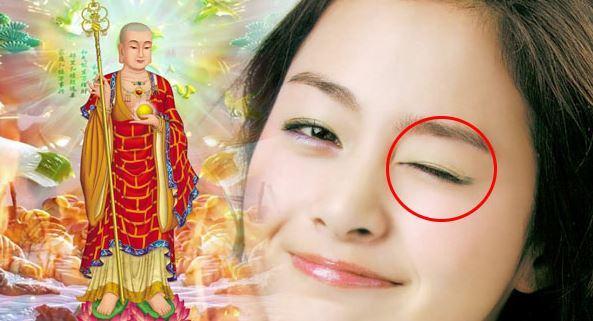 Hiện tượng nháy mắt trái, giật mặt trái ở Nữ